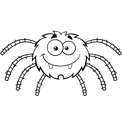 Arañas Para Colorear 𝐃𝐢𝐛𝐮𝐣𝐨𝐬 𝐩𝐚𝐫𝐚