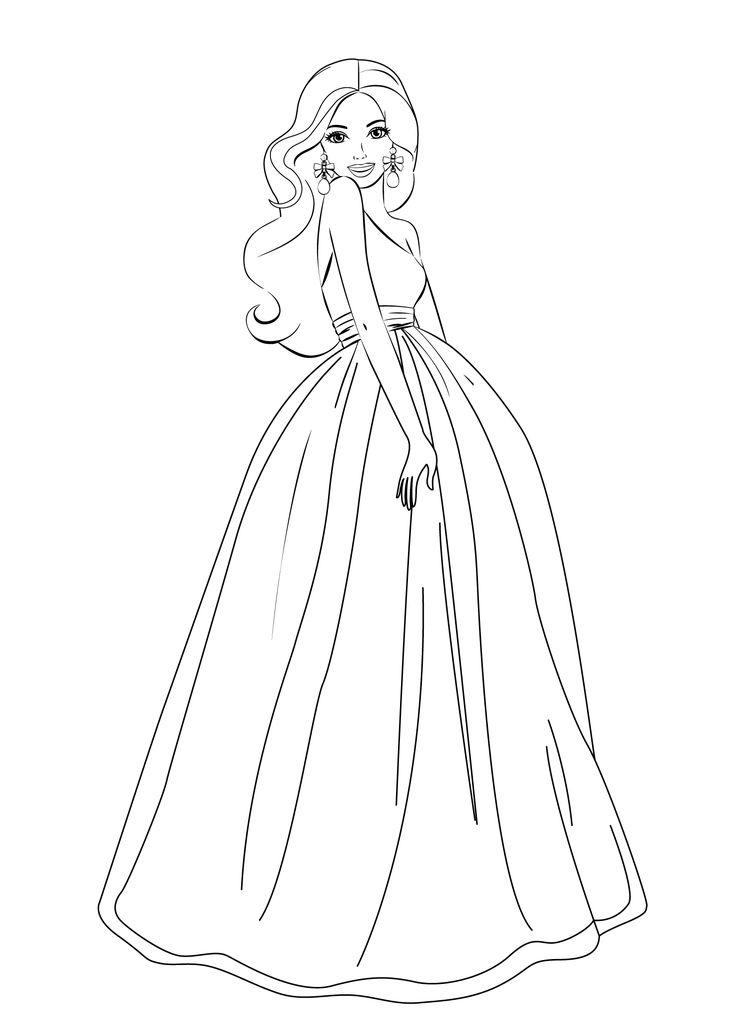 Barbie Para Colorear 【dibujos Para Descargar Y Pintar】