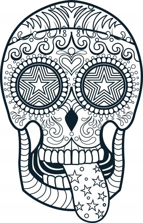 Calaveras Mexicanas Para Colorear 【dibujos Para Descargar Y Pintar】