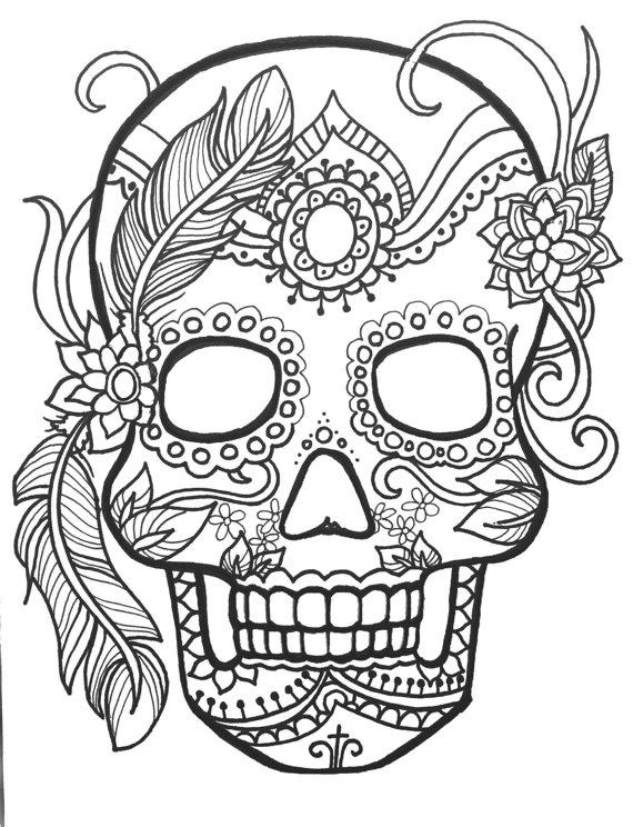 Calaveras Mexicanas para colorear ❺❺ 【DIBUJOS para descargar y ...