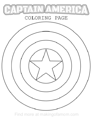 🥇 Capitan America para colorear 🥇 【 Dibujos para imprimir y pintar 】