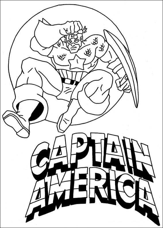 Capitan America Para Colorear 𝐃𝐢𝐛𝐮𝐣𝐨𝐬 𝐩𝐚𝐫𝐚