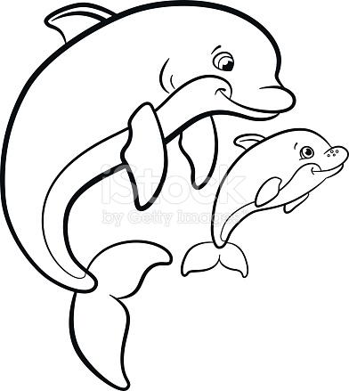 🥇 Delfines para colorear 🥇 【 Dibujos para imprimir y pintar 】