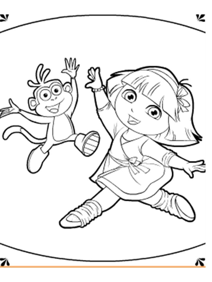 🥇 Dora para colorear 🥇 【 Dibujos para imprimir y pintar 】