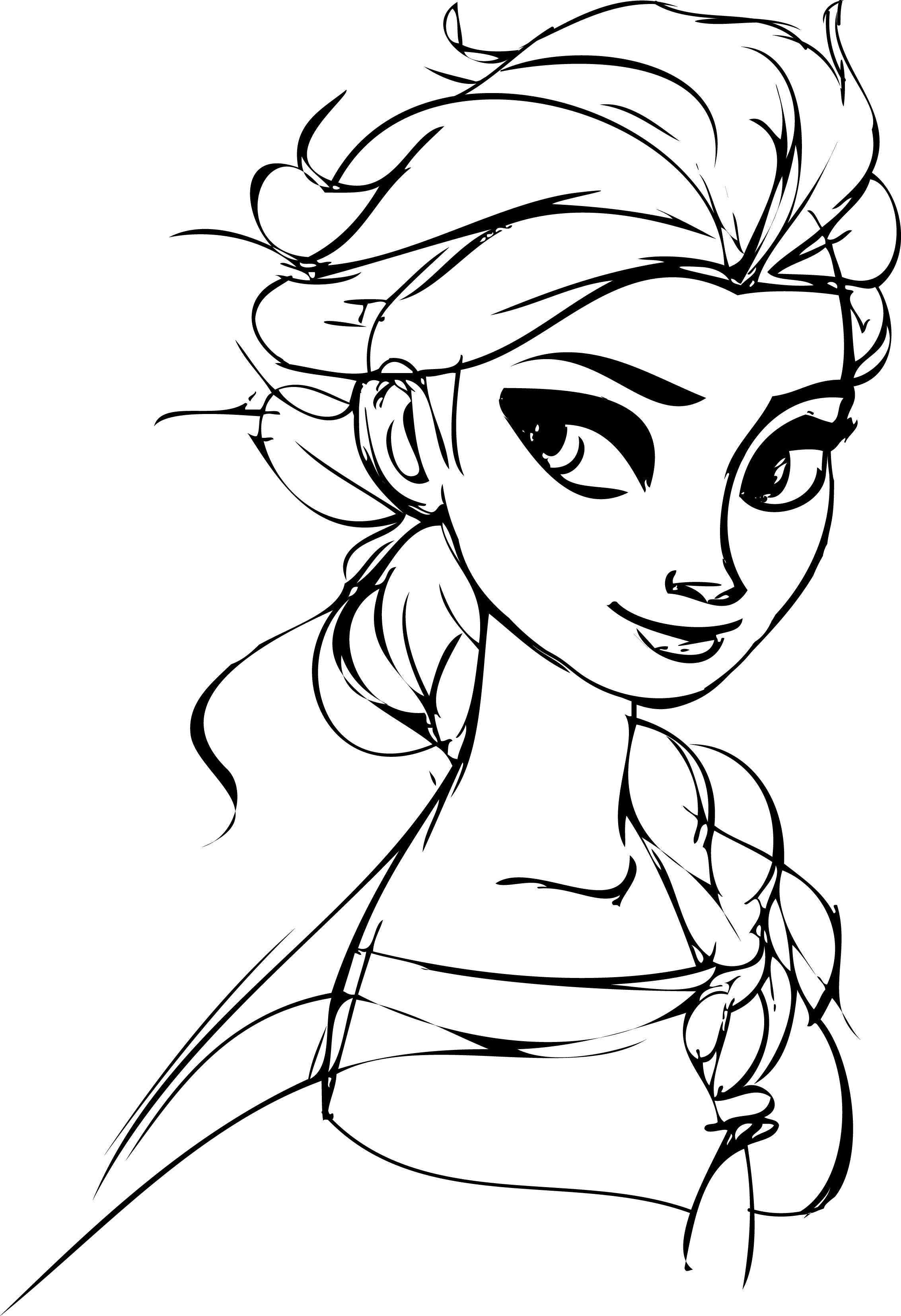 Elsa para colorear dibujos para imprimir y pintar for Elsa frozen coloring pages