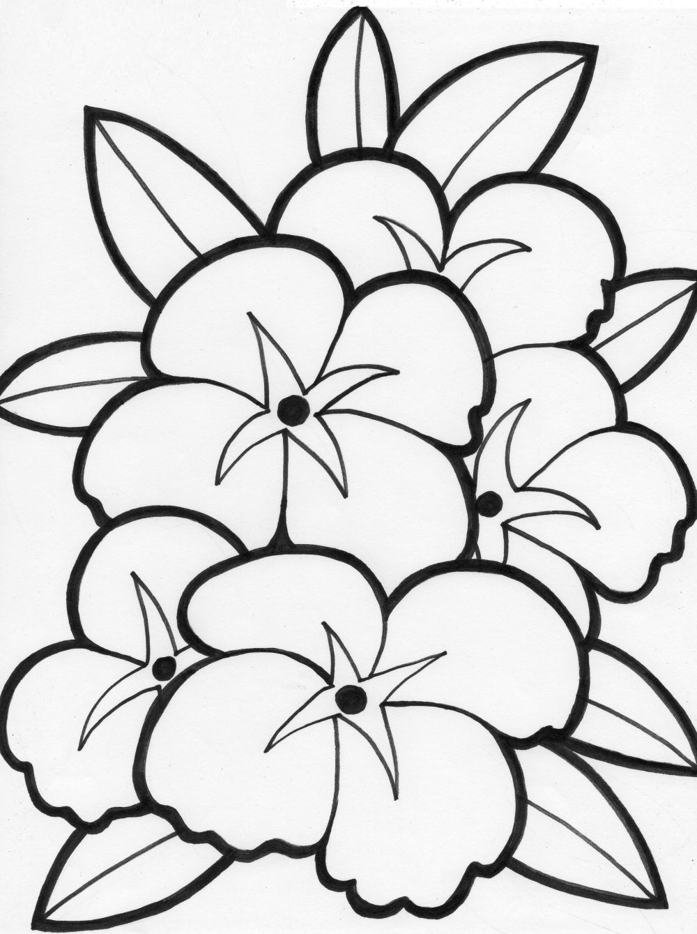 Flores para colorear ❺❺ 【DIBUJOS para descargar y Pintar】
