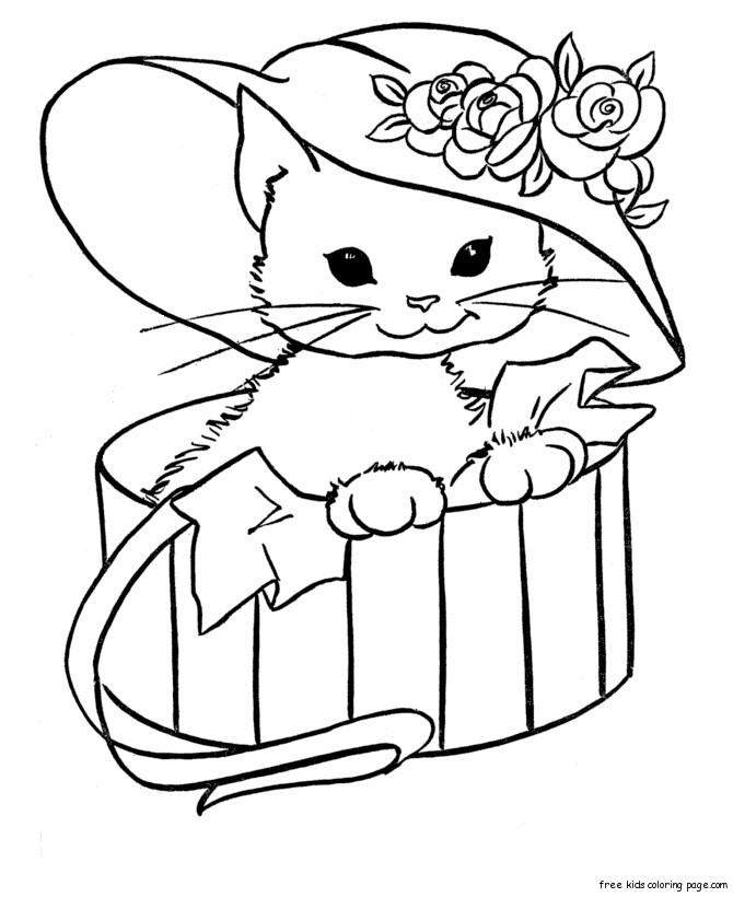 🥇 Gatos para colorear 🥇 【DIBUJOS para descargar y Pintar】