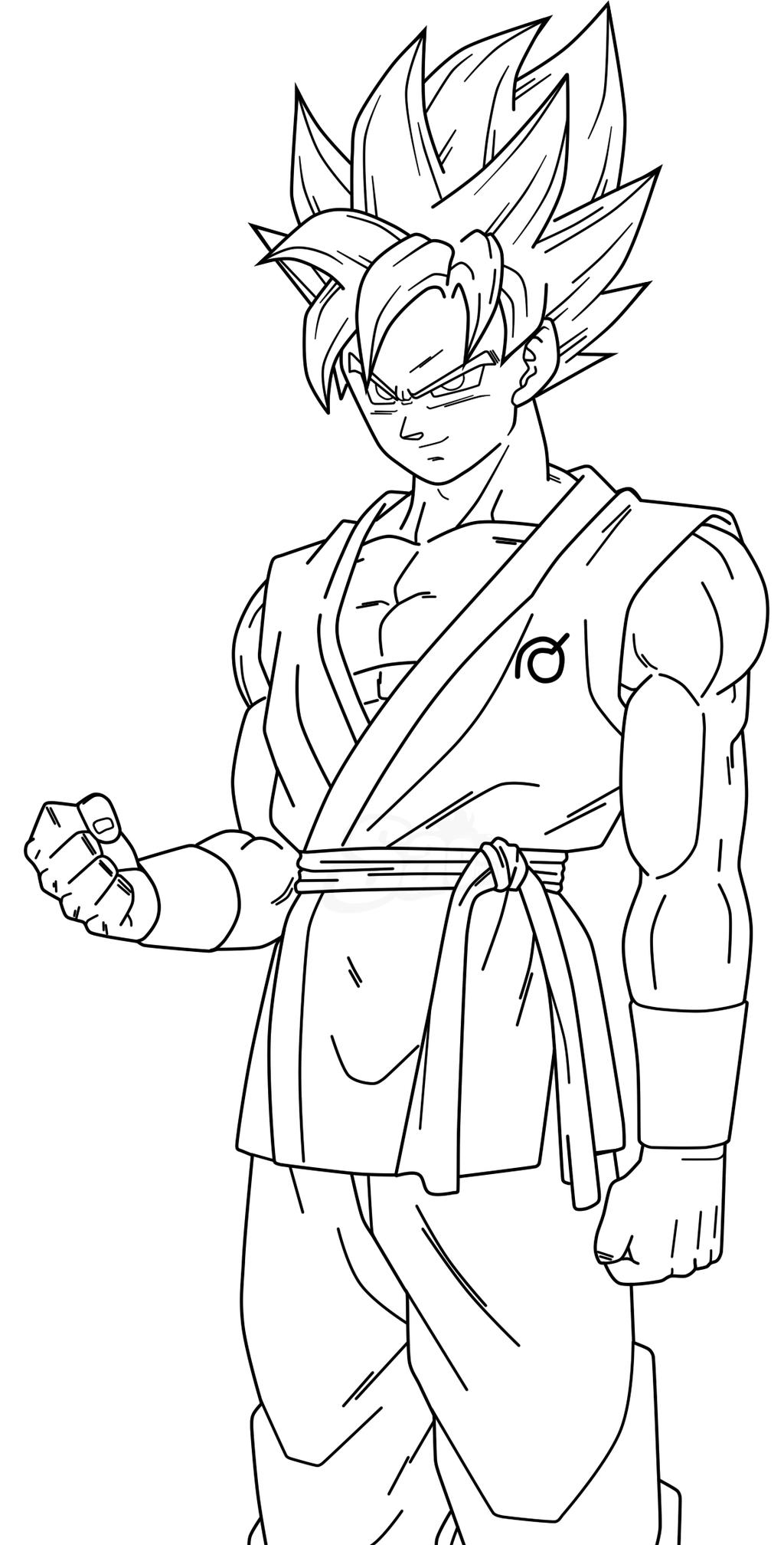 Goku Para Colorear 【dibujos Para Descargar Y Pintar】