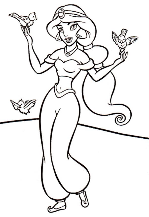 Jasmine para colorear dibujos para descargar y pintar for Coloring pages jasmine