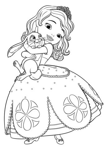 🥇 La Princesa Sofia para colorear 🥇 【 Dibujos para imprimir y ...