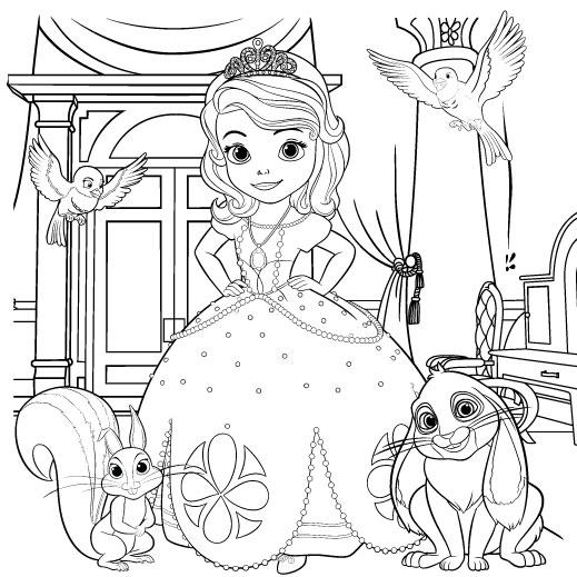 La Princesa Sofia Para Colorear 𝐃𝐢𝐛𝐮𝐣𝐨𝐬 𝐩𝐚𝐫𝐚