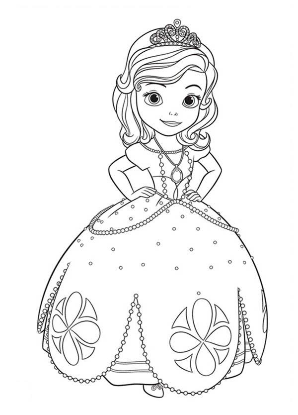 La Princesa Sofia Para Colorear Dibujos Para Imprimir Y