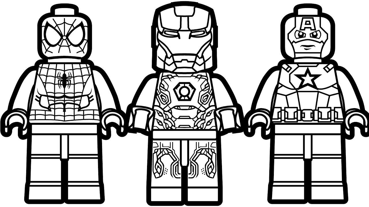 Lego Para Colorear DIBUJOS Para Descargar Y Pintar