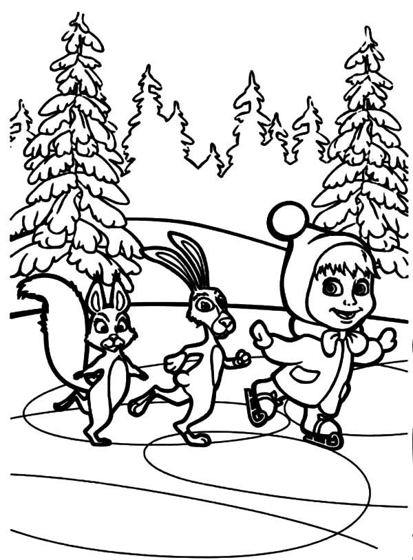 Masha y el Oso para colorear ❺❺ 【DIBUJOS para descargar y Pintar】
