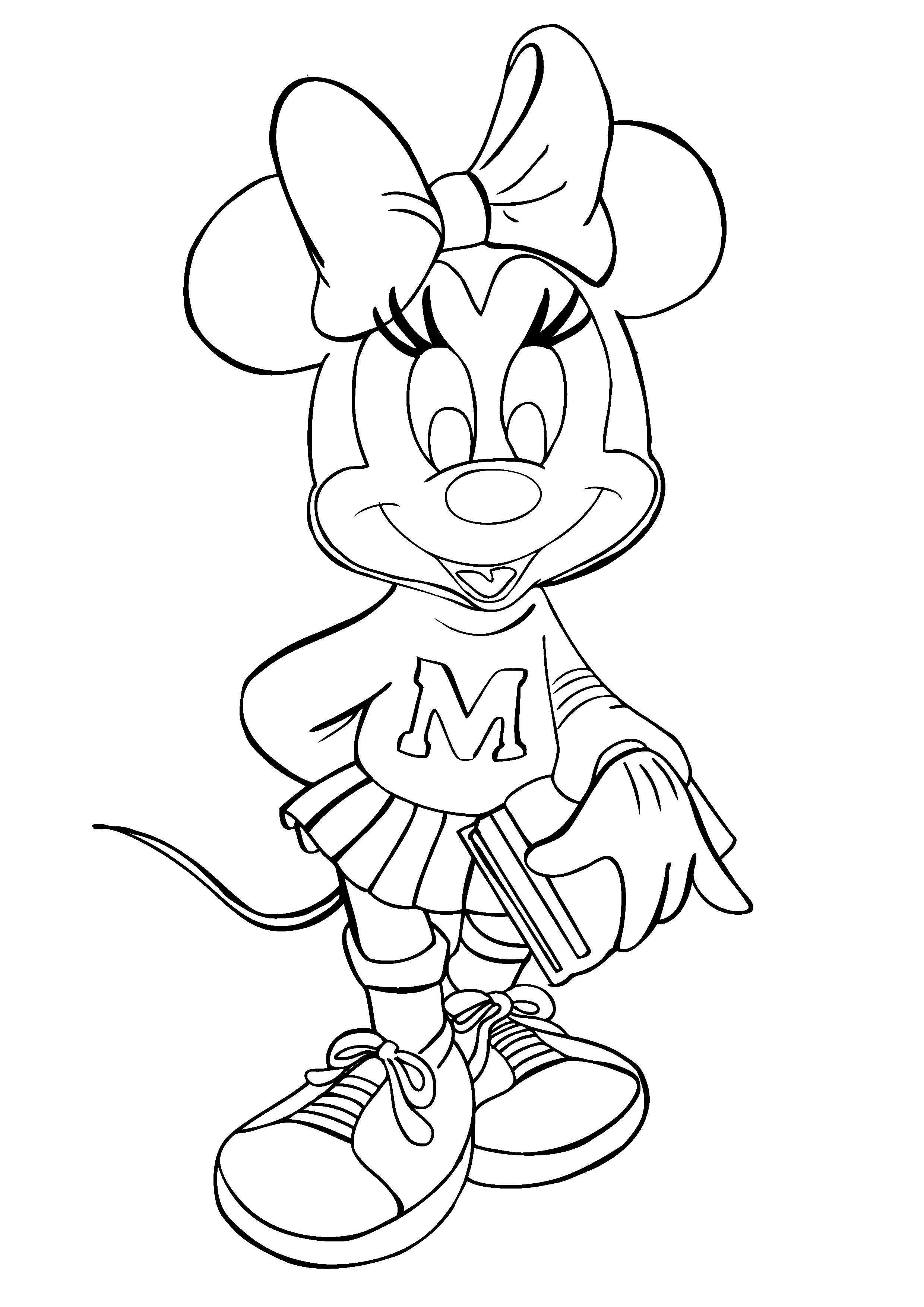 Minnie Mouse para colorear ❺❺ 【DIBUJOS para descargar y Pintar】