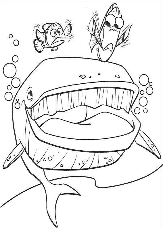 Dibujos Para Pintar De Nemo Colorear Nemo Para Marlin Dory Y Dibujos ...