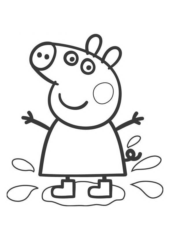 Peppa pig para colorear dibujos para imprimir y pintar for Peppa pig coloring pages christmas