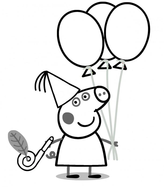Peppa Pig para colorear ❺❺ 【DIBUJOS para descargar y Pintar】