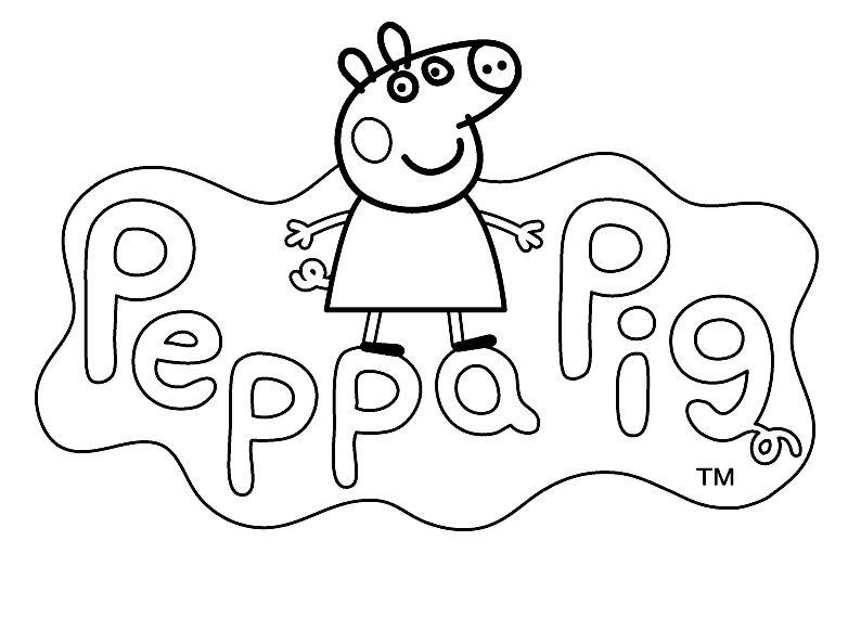🥇 Peppa Pig para colorear 🥇 【 Dibujos para imprimir y pintar 】