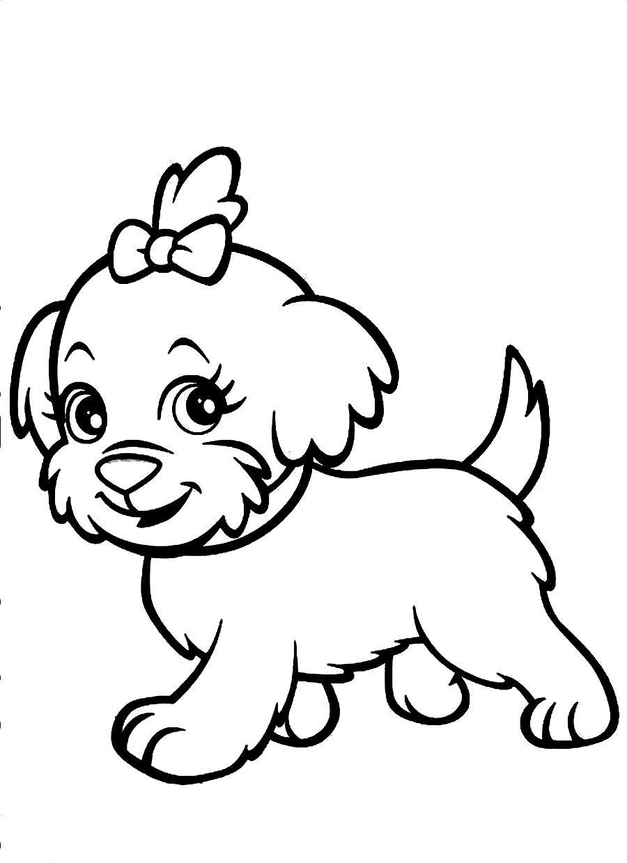 Perros para colorear ❺❺ 【DIBUJOS para descargar y Pintar】