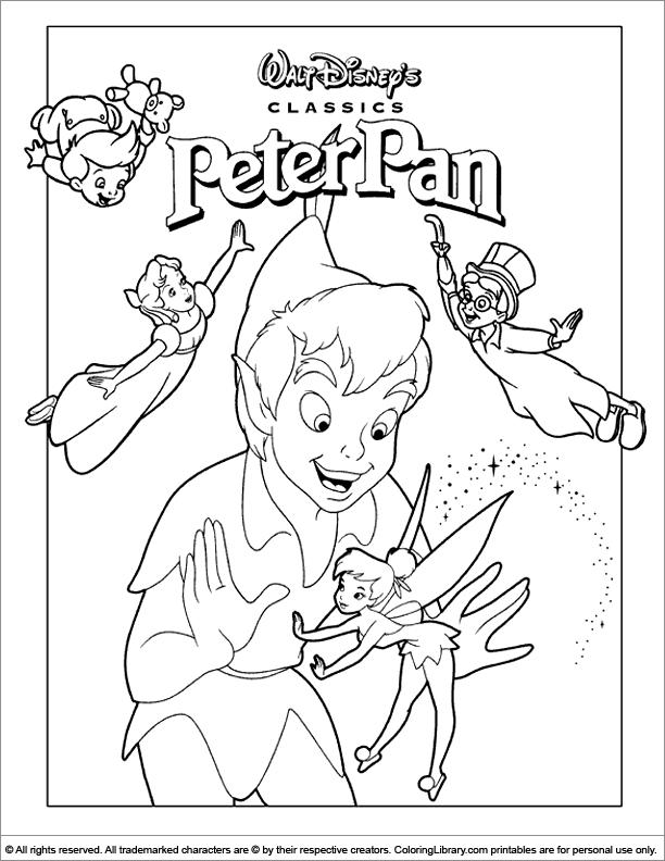 Peter Pan para colorear ❺❺ 【DIBUJOS para descargar y Pintar】