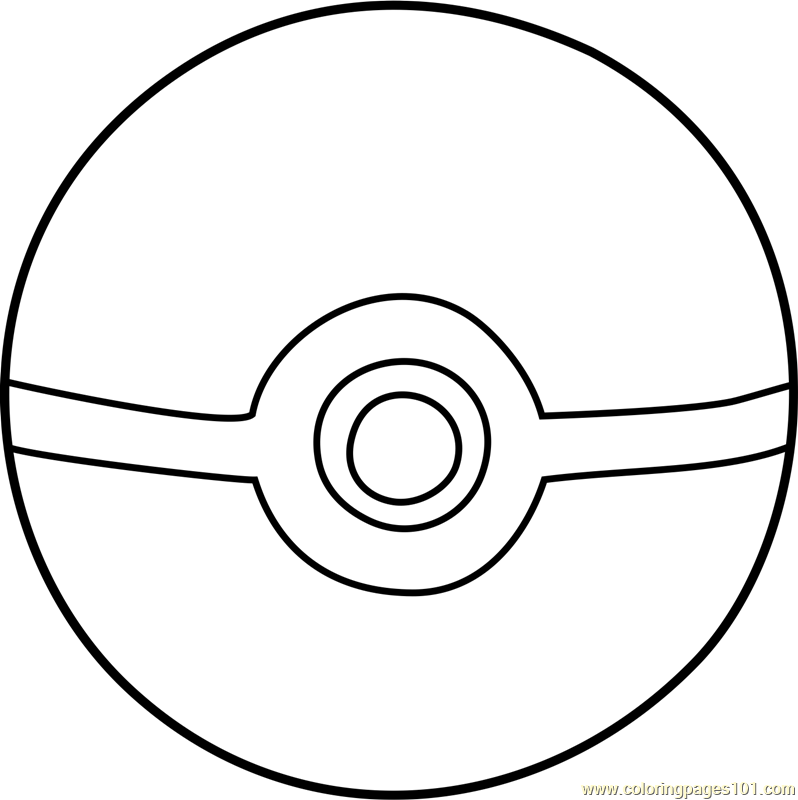Pokemon Ultra Ball Coloring Pages Sketch Coloring Page