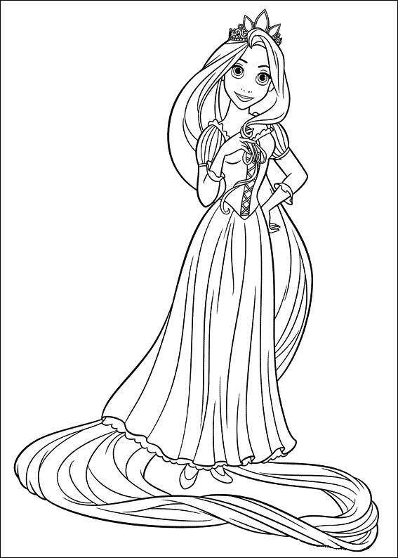 Rapunzel para colorear 🥇 𝐃𝐢𝐛𝐮𝐣𝐨𝐬 𝐩𝐚𝐫𝐚 𝐢𝐦𝐩𝐫𝐢𝐦𝐢𝐫