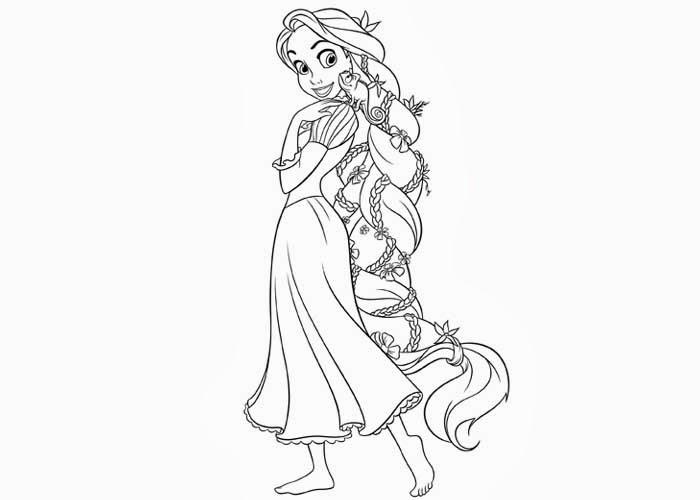 Rapunzel Para Colorear 𝐃𝐢𝐛𝐮𝐣𝐨𝐬 𝐩𝐚𝐫𝐚 𝐢𝐦𝐩𝐫𝐢𝐦𝐢𝐫