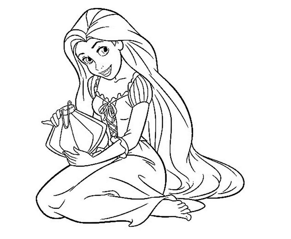 Rapunzel para colorear ❺❺ 【DIBUJOS para descargar y Pintar】