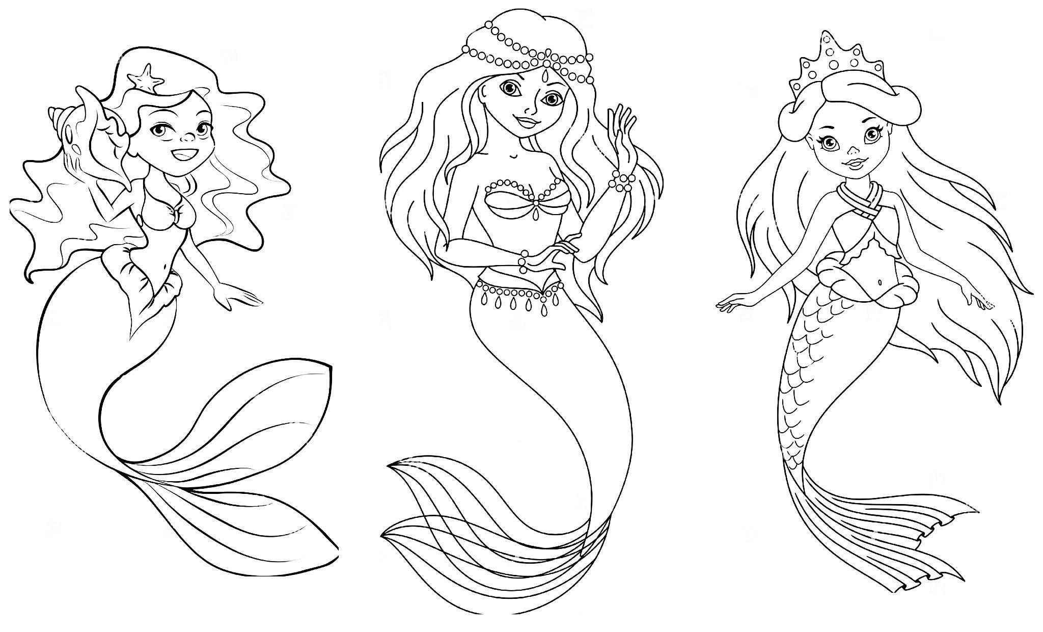Sirenas Para Colorear 𝐃𝐢𝐛𝐮𝐣𝐨𝐬 𝐩𝐚𝐫𝐚 𝐢𝐦𝐩𝐫𝐢𝐦𝐢𝐫 𝐲