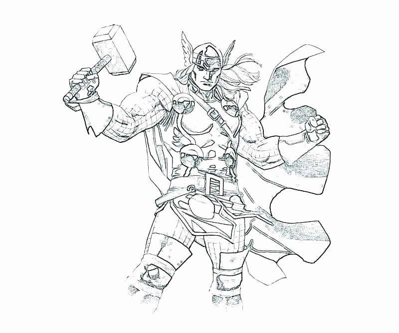 Thor Para Colorear 𝐃𝐢𝐛𝐮𝐣𝐨𝐬 𝐩𝐚𝐫𝐚 𝐢𝐦𝐩𝐫𝐢𝐦𝐢𝐫 𝐲