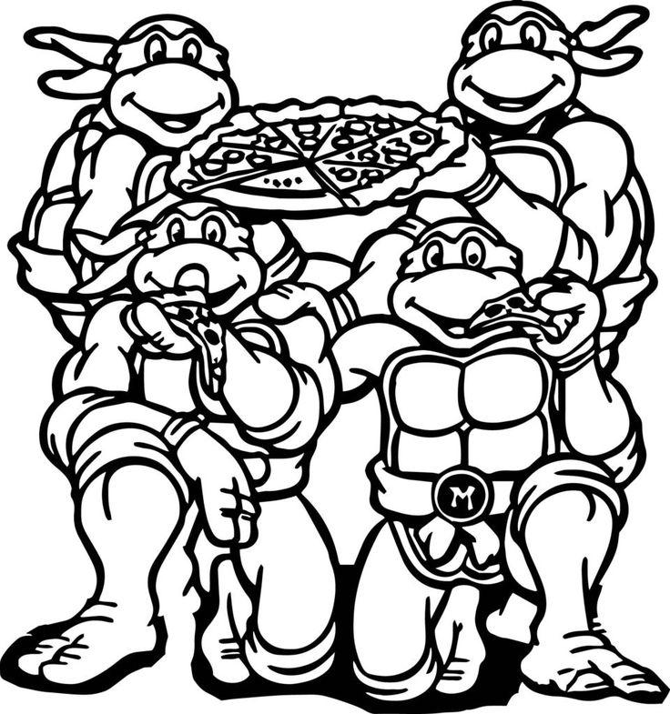 Tortugas Ninja para colorear ❺❺ 【DIBUJOS para descargar y Pintar】