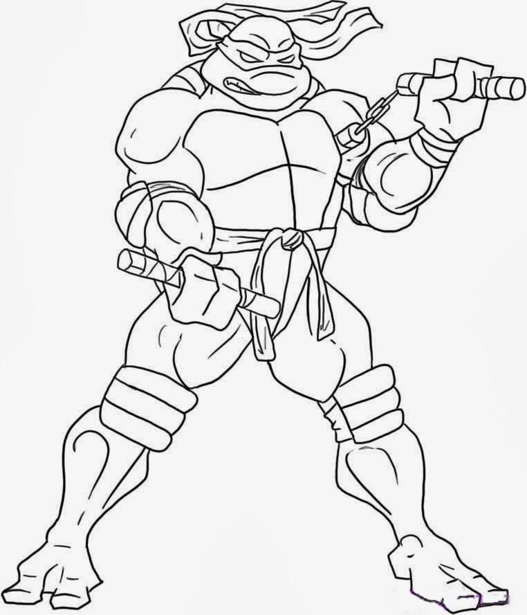 🥇 Tortugas Ninja para colorear 🥇 【 Dibujos para imprimir y pintar 】